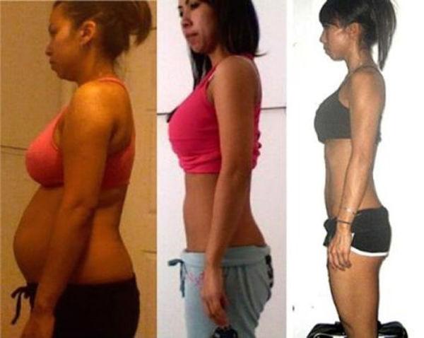 椭圆机减肥前后对比图